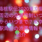 箱根駅伝2020東京駅周辺の交通規制いつからいつまで?東京駅周辺の渋滞情報も紹介